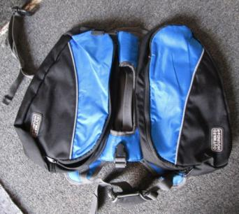 Kyjen Blue Medium Dog Backpack Laid Out Flat